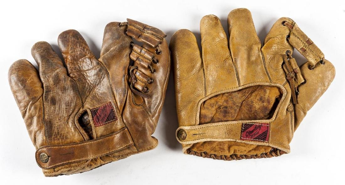 2 Rawlings Merrill Mays Split Finger Gloves - 2