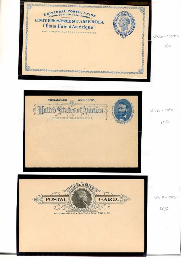 Mint US Postal Stationary UX Post Cards 1879-1989 - 8