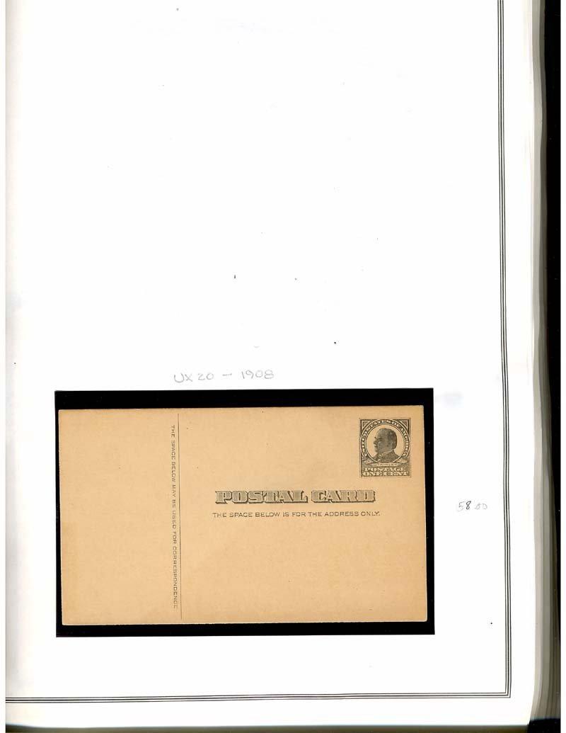 Mint US Postal Stationary UX Post Cards 1879-1989 - 9