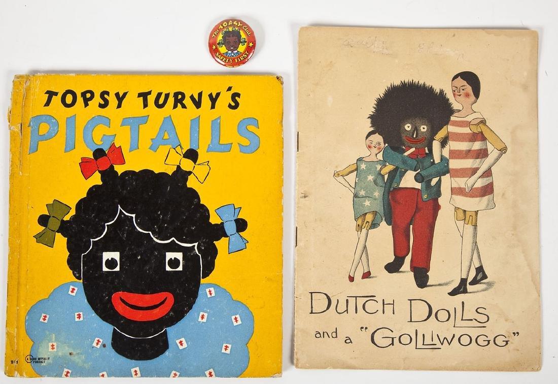 Dutch Dolls & a Golliwogg with Topsy Turvy