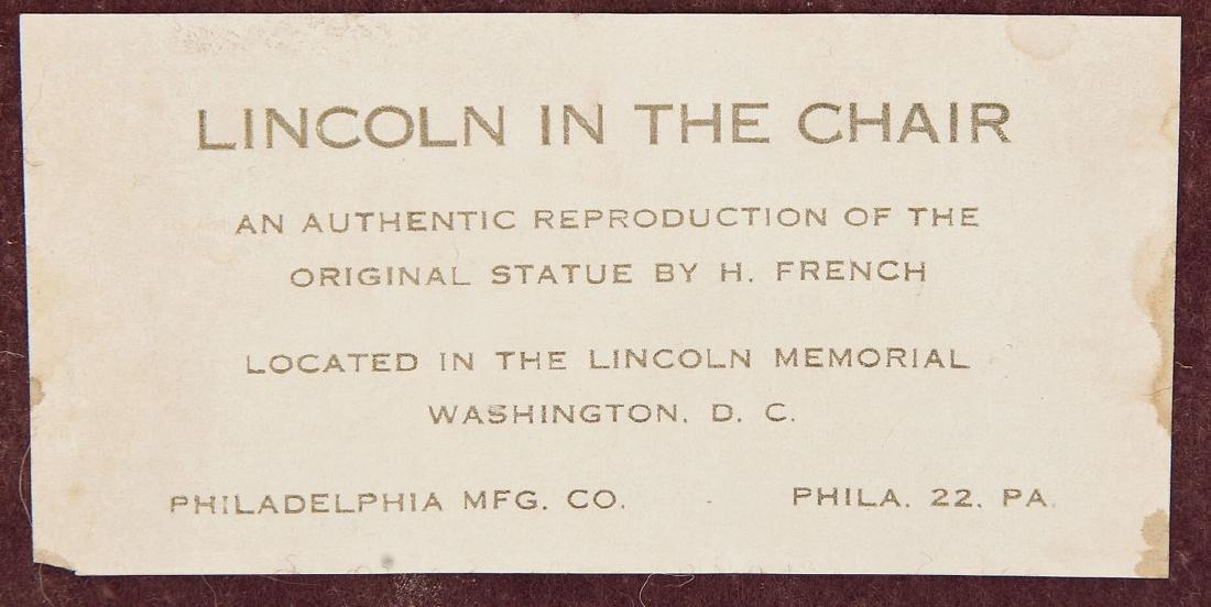 Pres. Lincoln Phila. Co. Brass & Bronze Bookends - 3