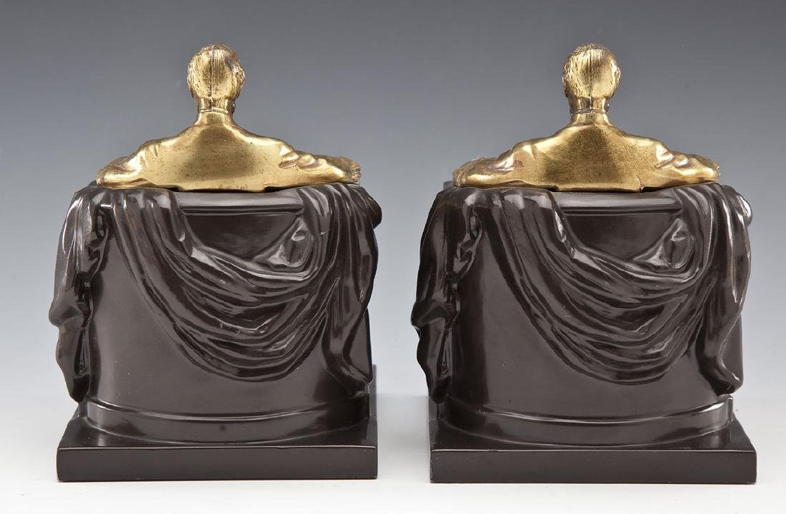 Pres. Lincoln Phila. Co. Brass & Bronze Bookends - 5