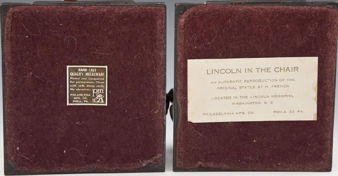 Pres. Lincoln Phila. Co. Brass & Bronze Bookends - 6