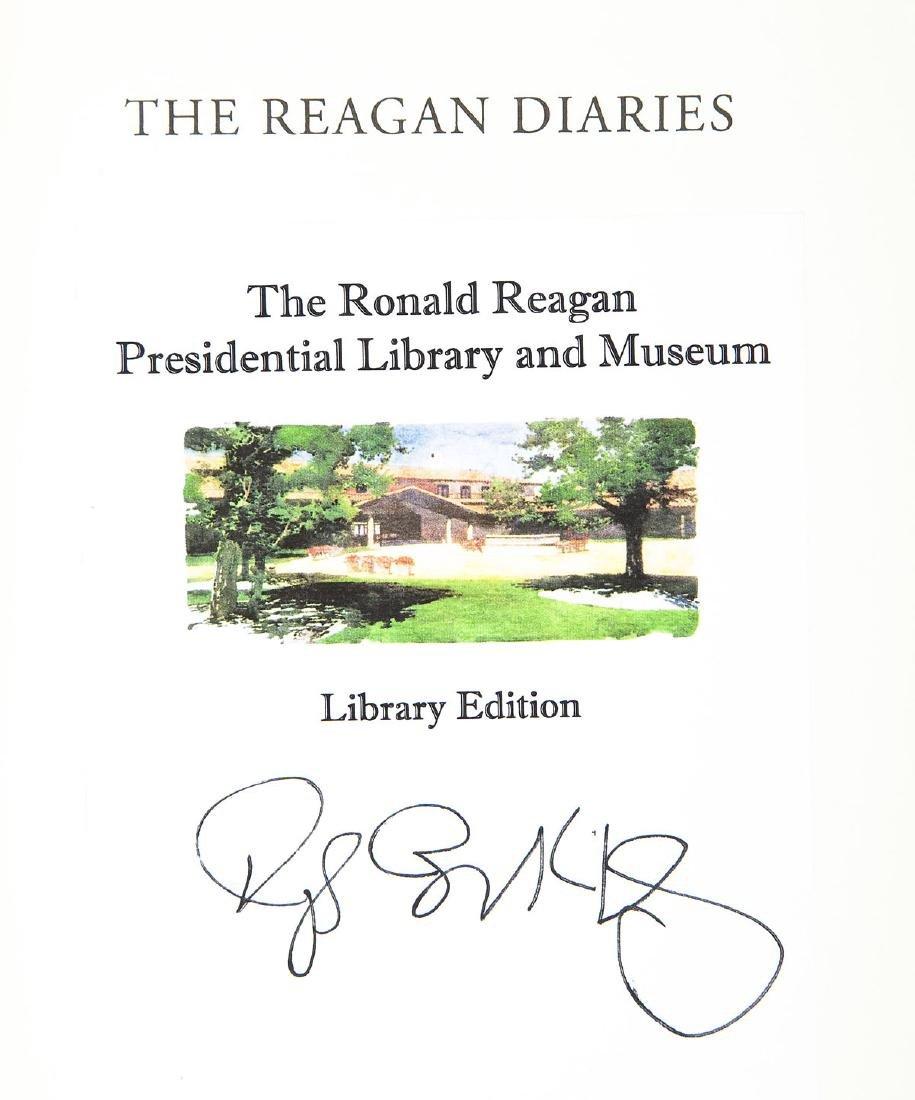 2 Reagan Diaries Signed by Douglas Brinkley - 2
