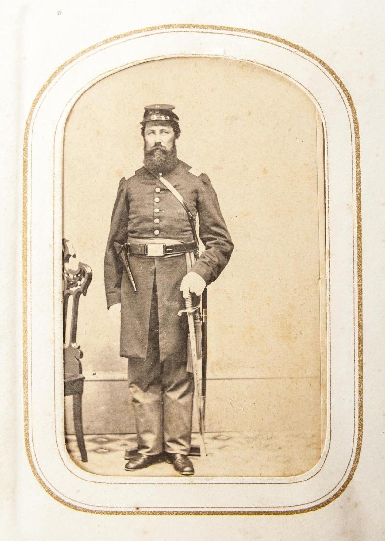 CDV Album with Identified Civil War Soldier