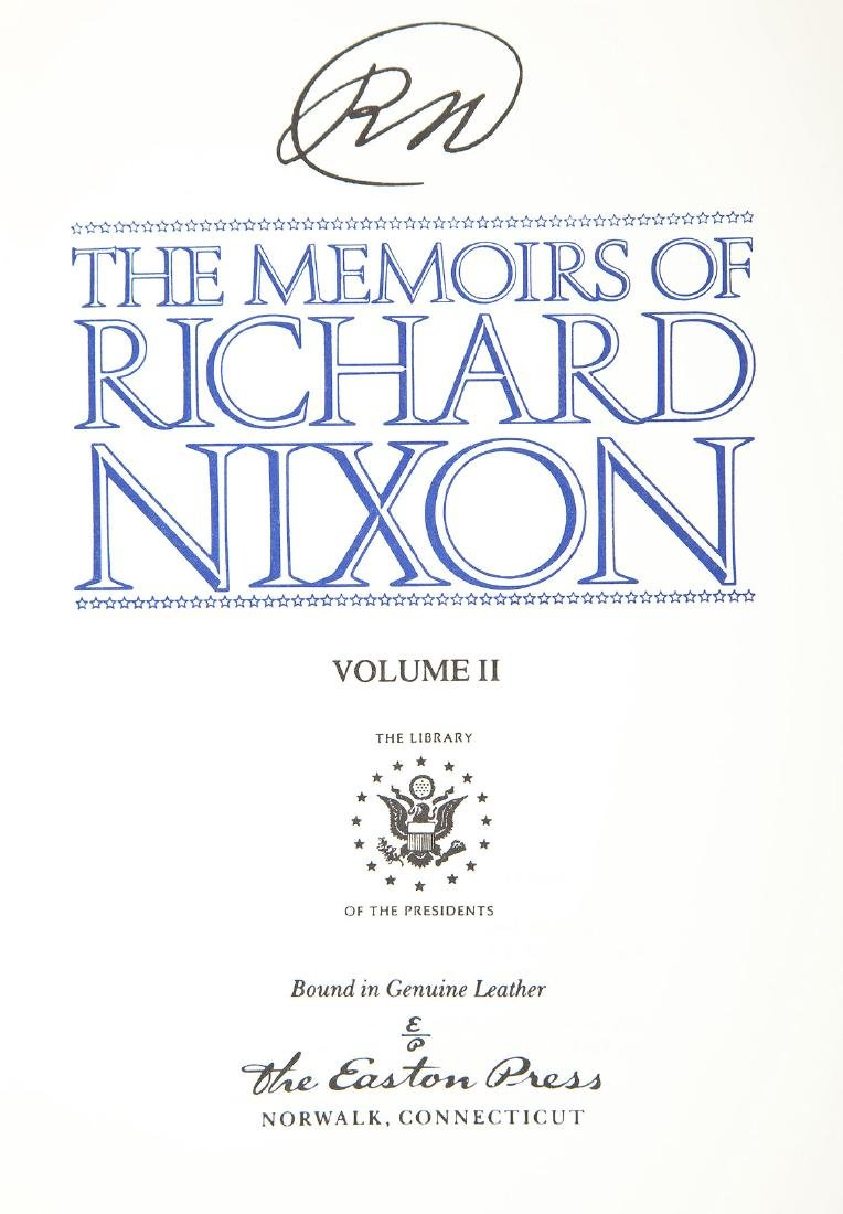 Signed Memoirs of Richard Nixon 4 Vols. - 3