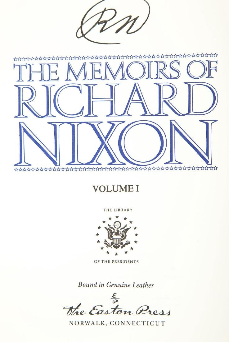 Signed Memoirs of Richard Nixon 4 Vols. - 6