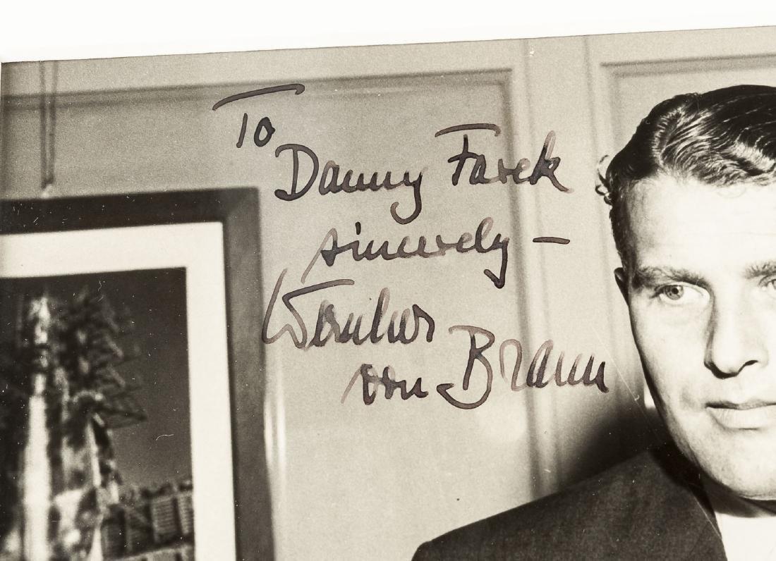 Wernher von Braun Autographed Picture - 3