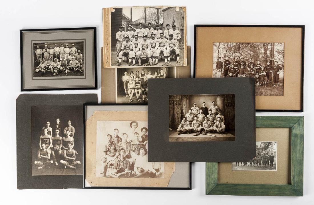 8 19th & 20th C B&W Sport Photographs