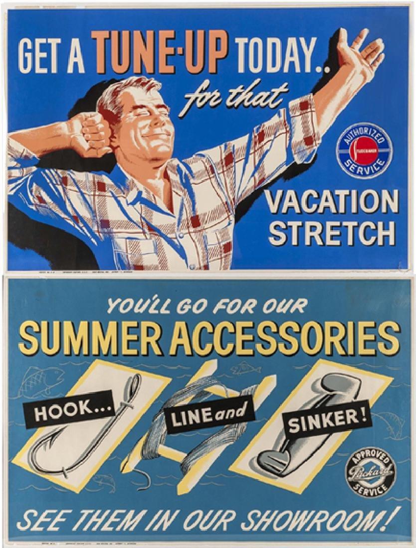Studebaker & Packer Poster Ads C 1950