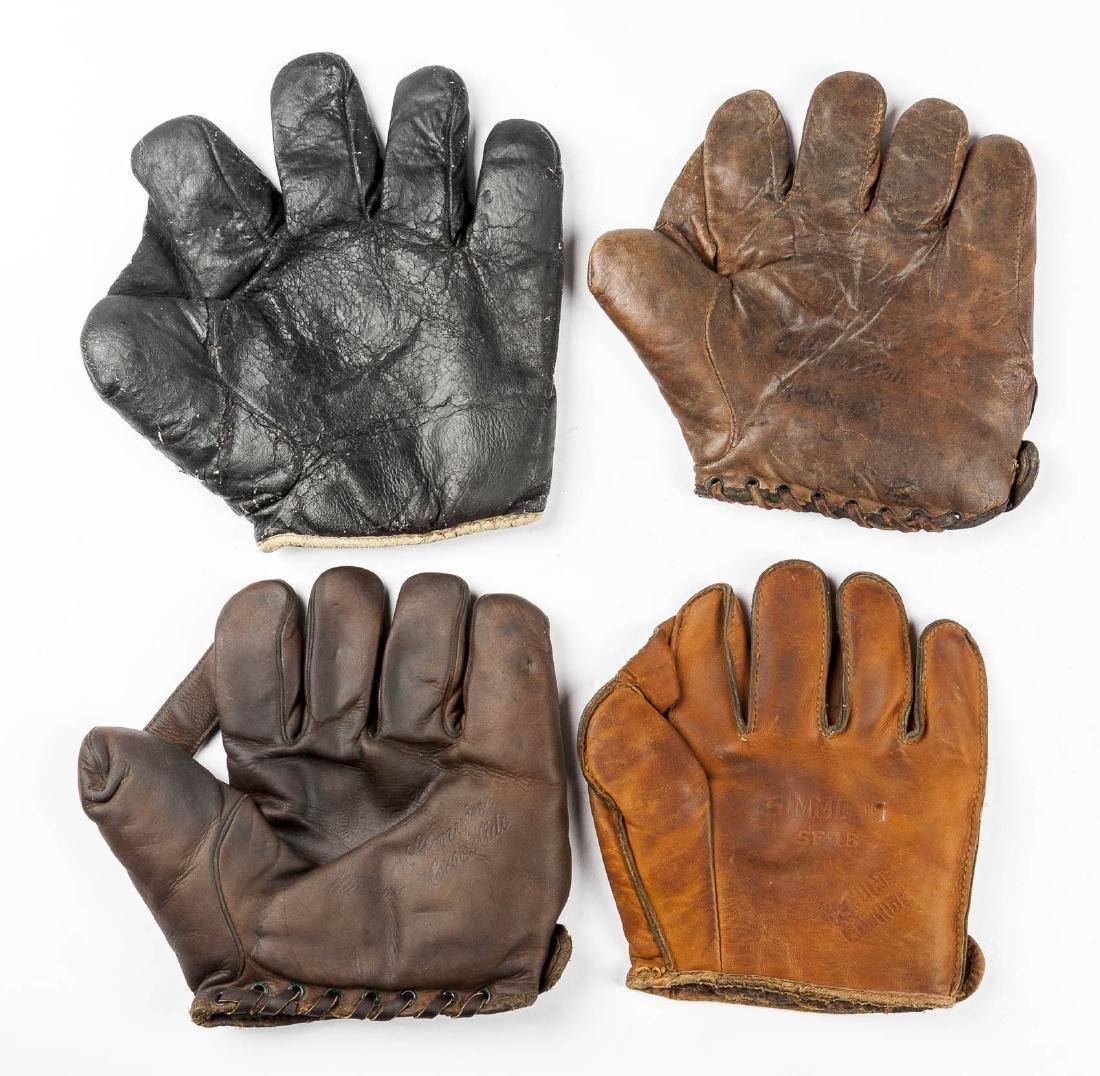 4 1910s & 1920s Web Gloves Incl Goldsmith