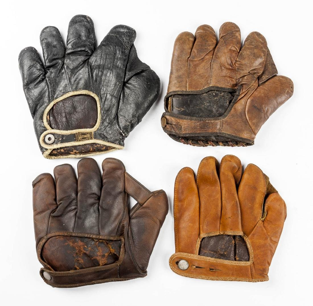 4 1910s & 1920s Web Gloves Incl Goldsmith - 2
