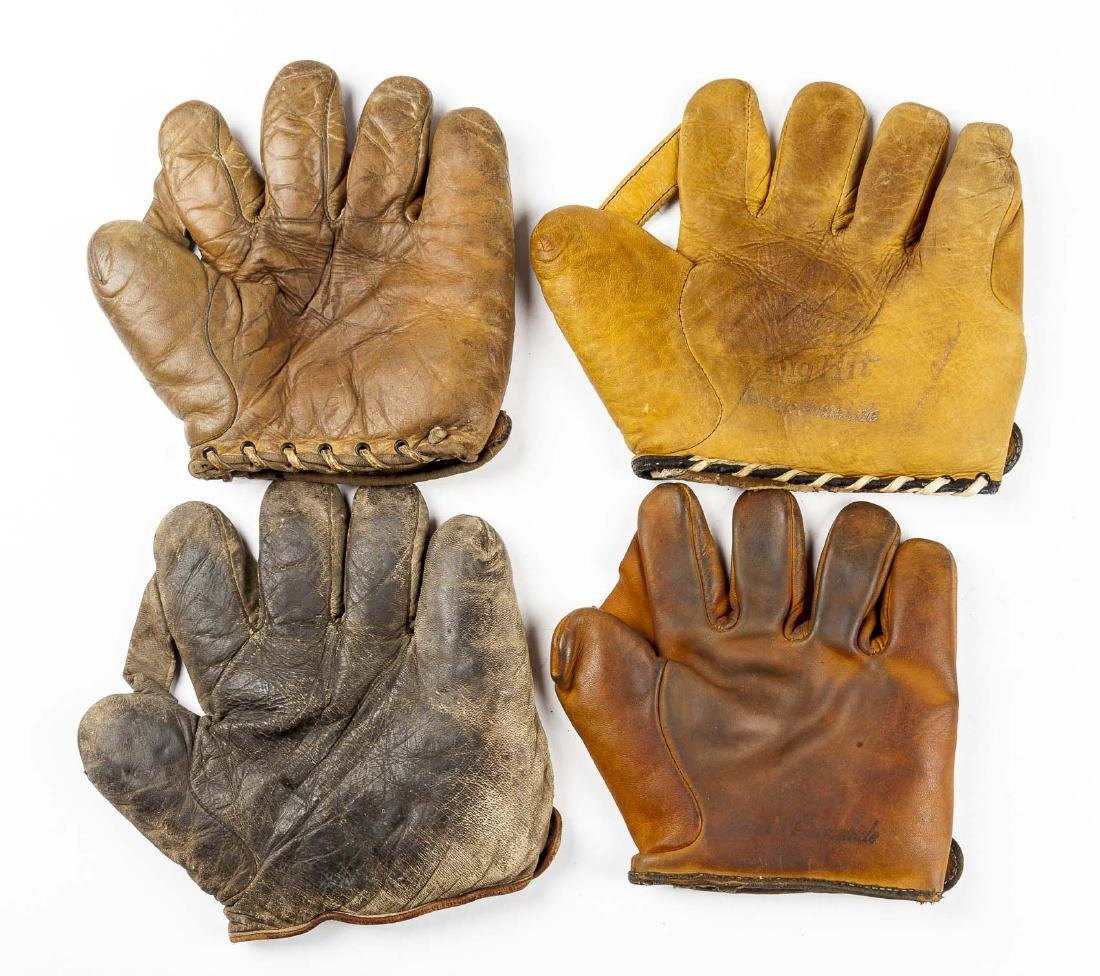 4 1910s & 1920s Web Gloves incl Jimmy Outlaw