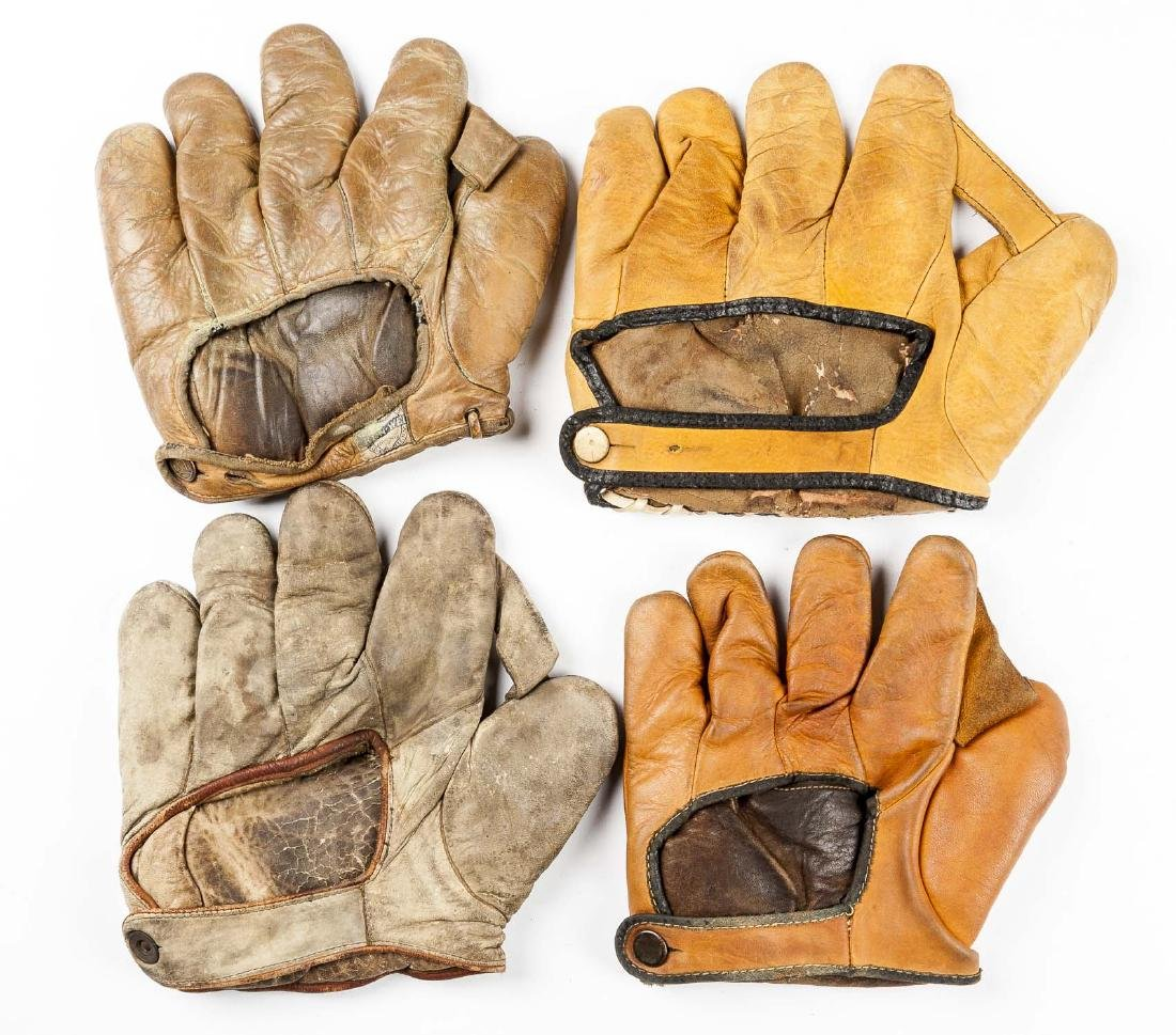 4 1910s & 1920s Web Gloves incl Jimmy Outlaw - 2