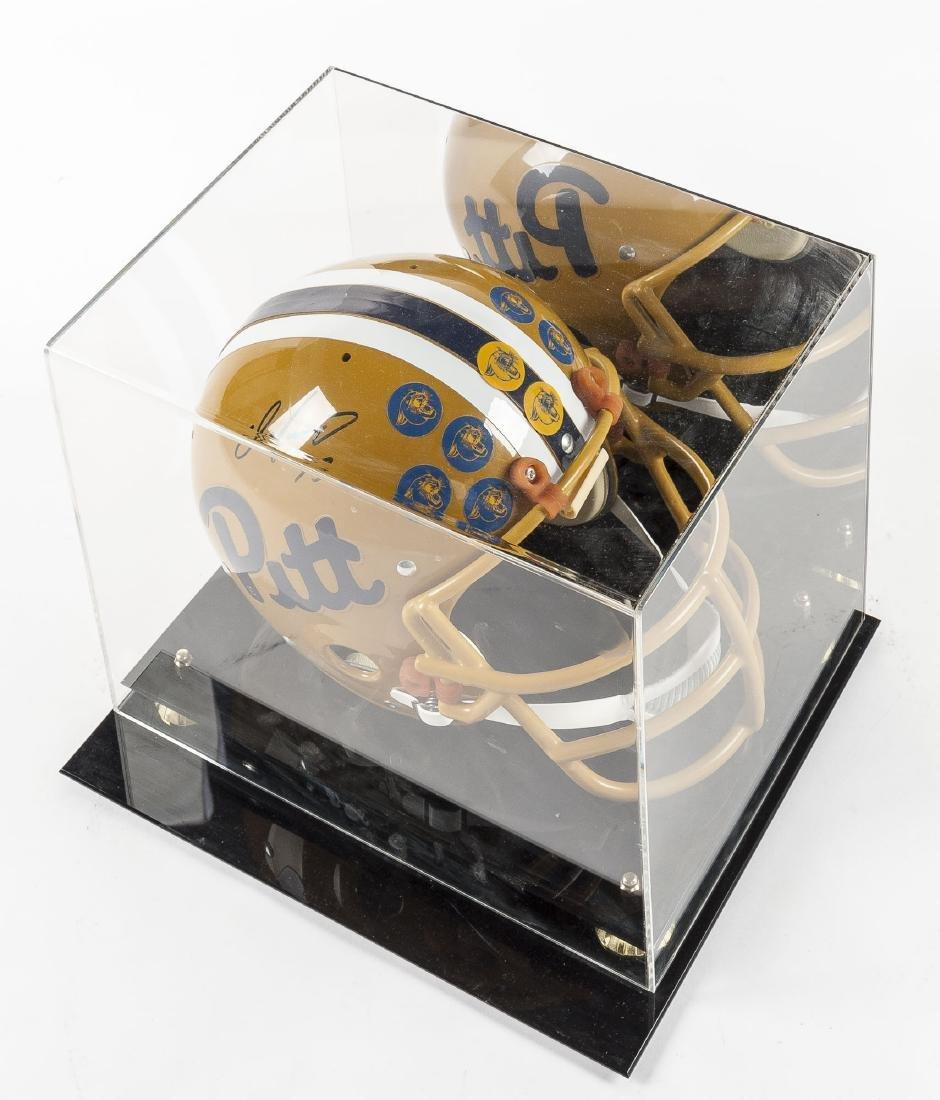 Dan Marino Signed Official Pitt Helmet with COA - 2