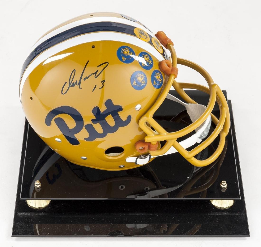 Dan Marino Signed Official Pitt Helmet with COA - 3