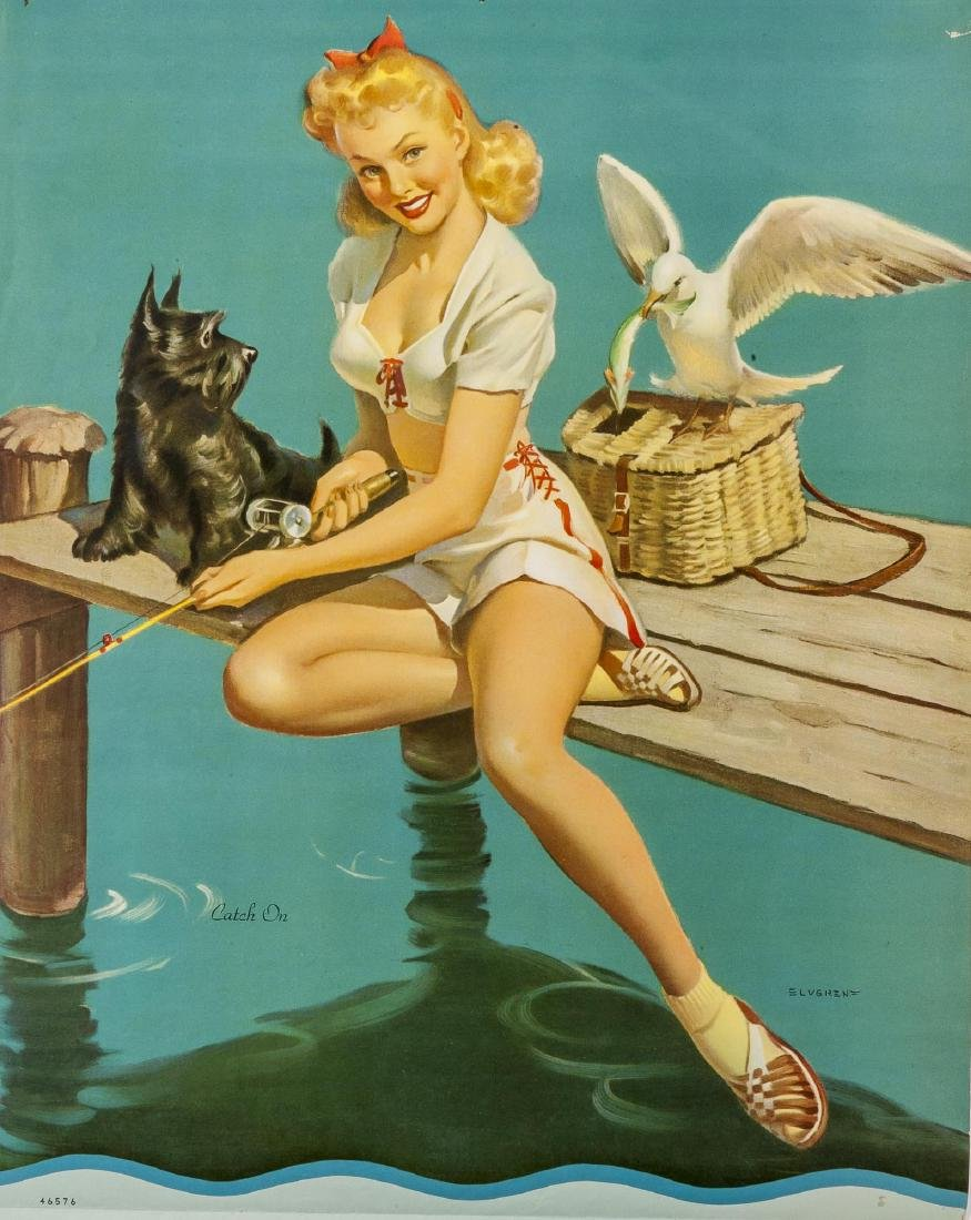 25 Vintage Pin-up Calendars Incl Samples - 2