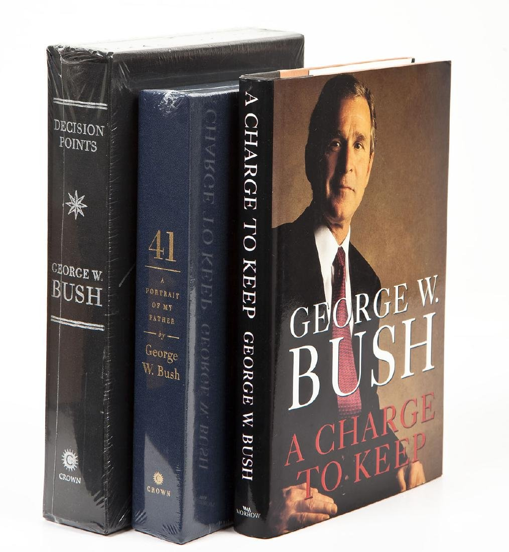 3 President George Bush Signed Books incl. 41