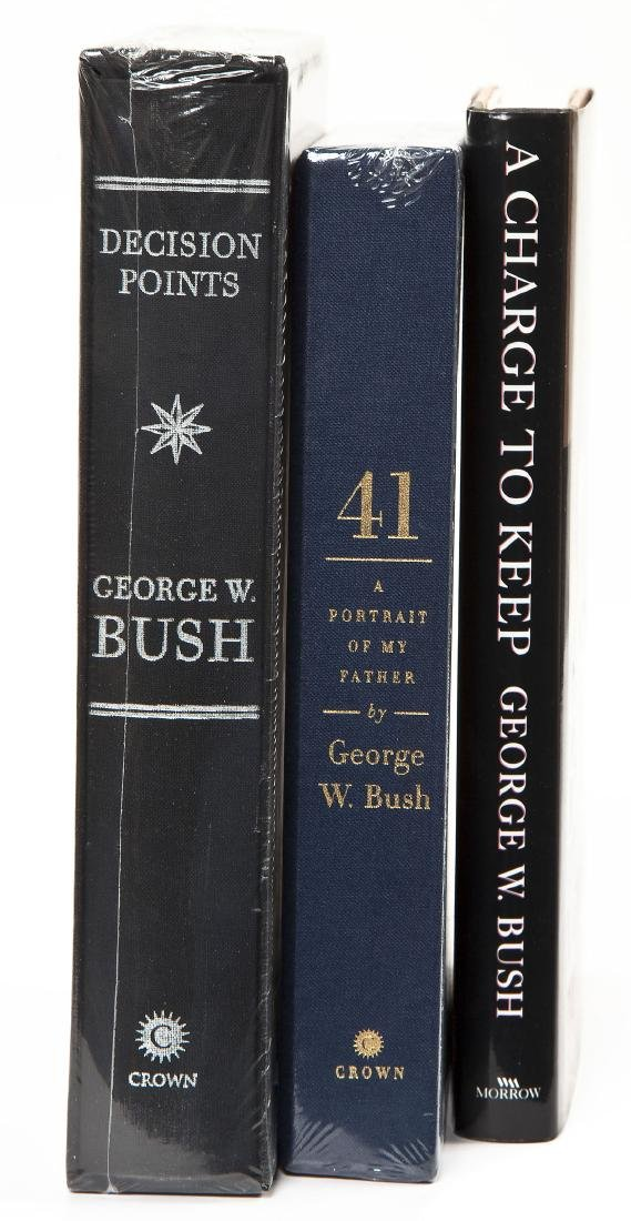 3 President George Bush Signed Books incl. 41 - 2