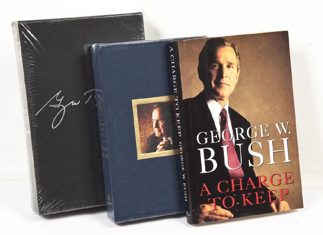 3 President George Bush Signed Books incl. 41 - 3