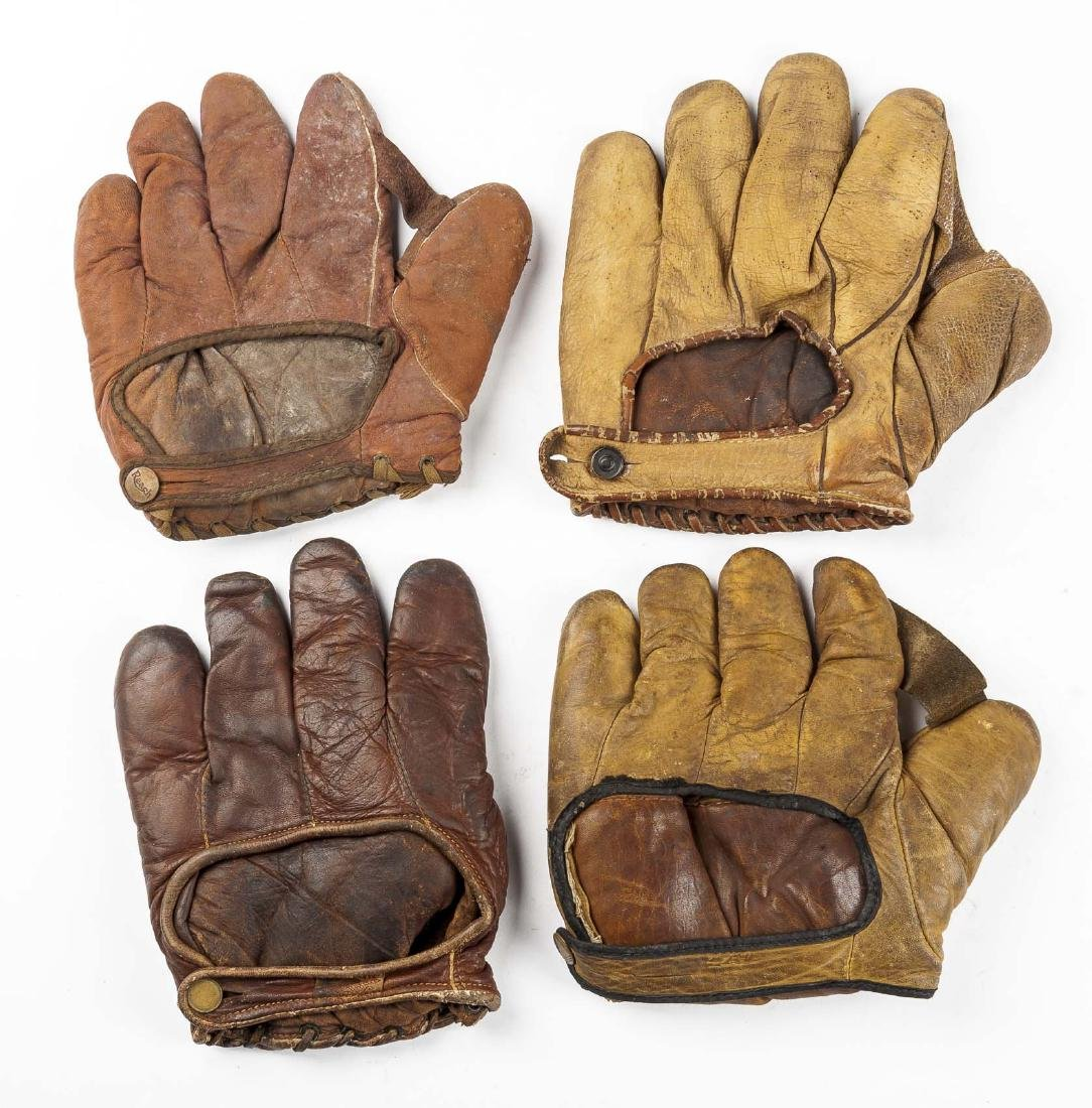 4 1910s Web Baseball Gloves incl Charlie Root - 2
