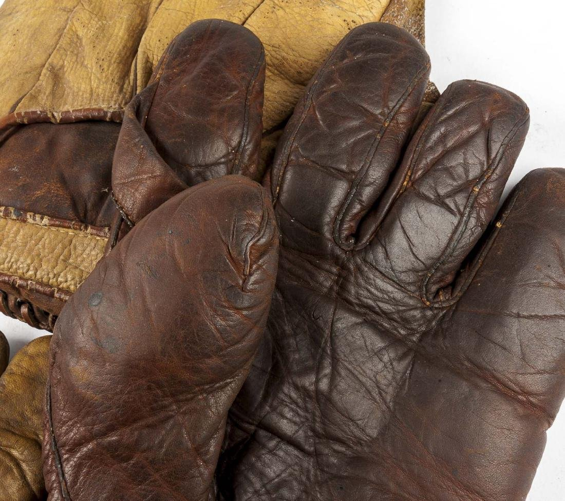 4 1910s Web Baseball Gloves incl Charlie Root - 6