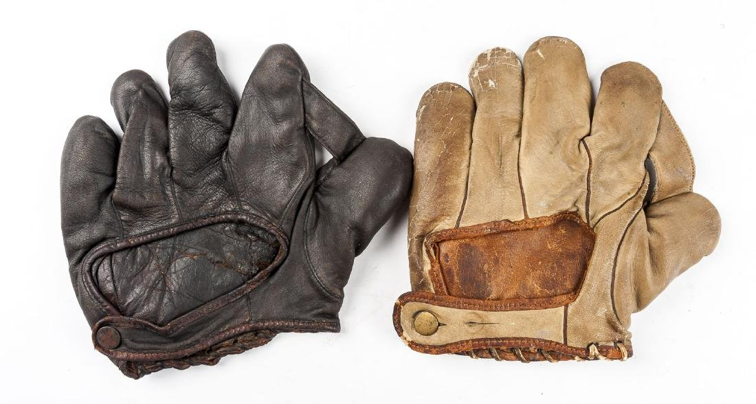 "2 1910s & 1920s 1"" Web Baseball Gloves - 2"