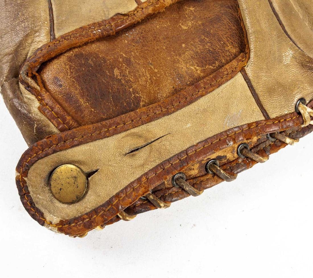 "2 1910s & 1920s 1"" Web Baseball Gloves - 5"