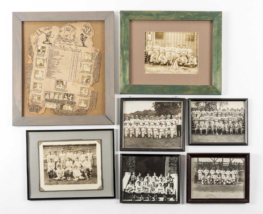 Circa 1930s Images incl CCC Baseball Team