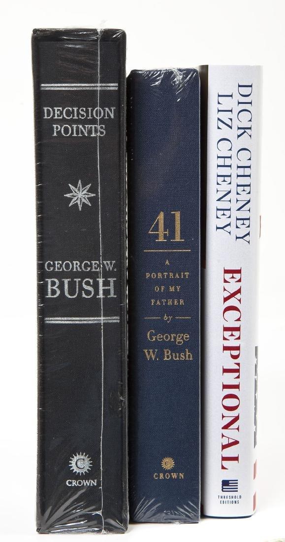 3 President George Bush & Cheney Signed Books - 2