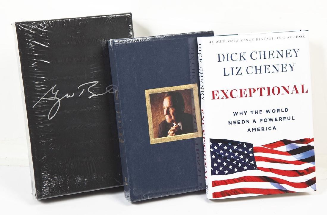 3 President George Bush & Cheney Signed Books - 3