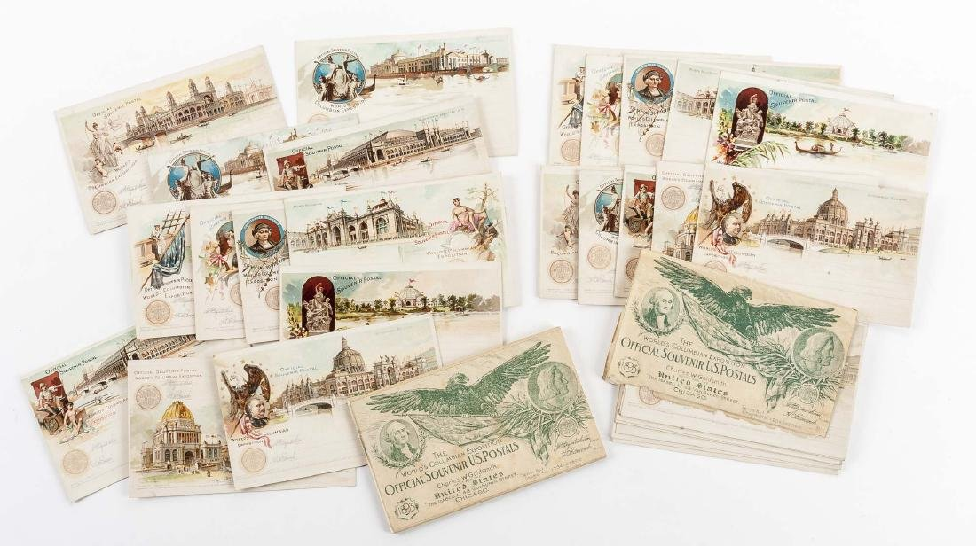 4 Sets of Goldsmith Columbian Expo Postcards