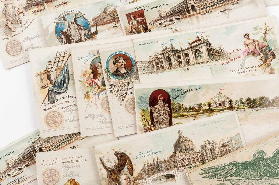 4 Sets of Goldsmith Columbian Expo Postcards - 4