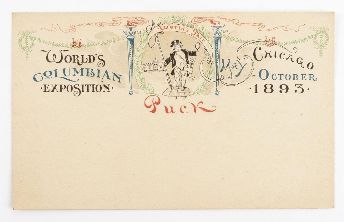 Columbian Exposition Puck Postcard & Tickets - 2