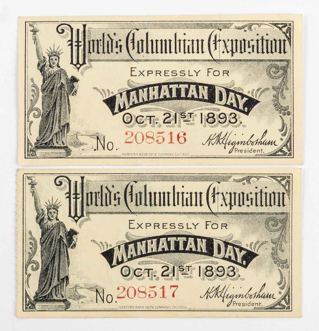 Columbian Exposition Puck Postcard & Tickets - 4