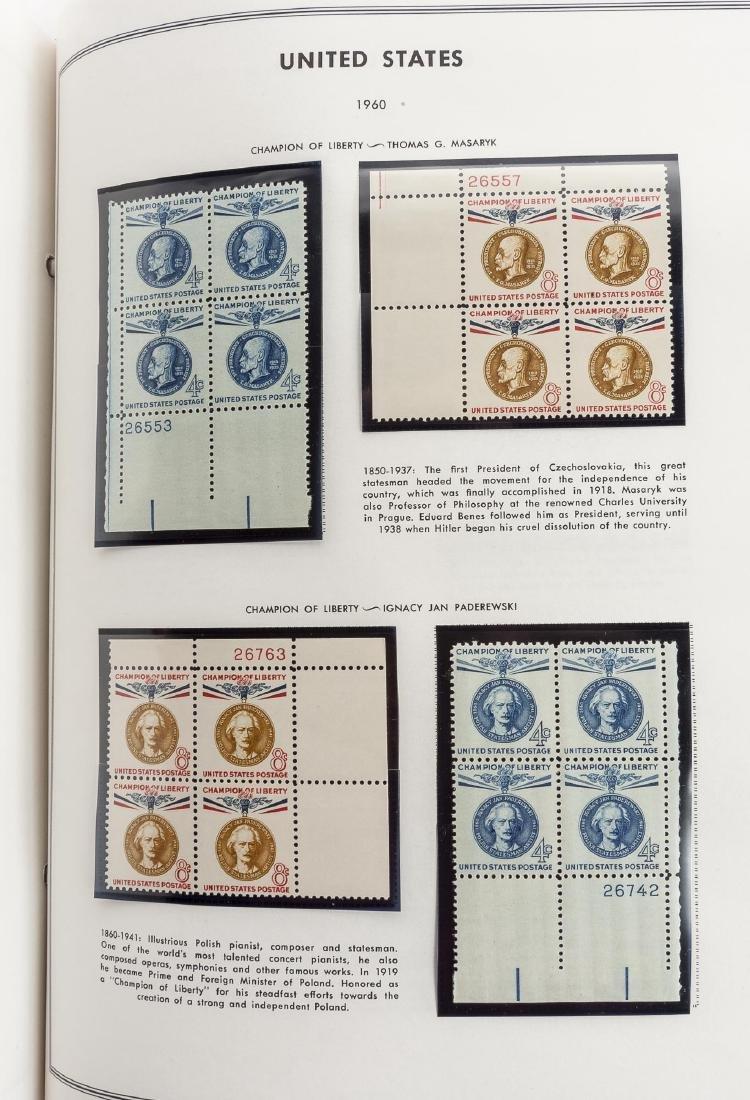 3 H.E. Harris Albums of US Mint Plate Blocks - 2