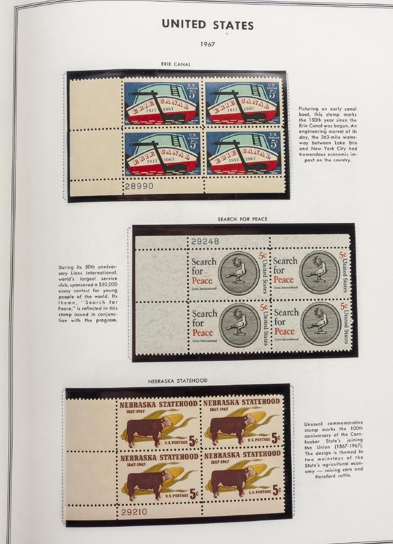 3 H.E. Harris Albums of US Mint Plate Blocks - 4