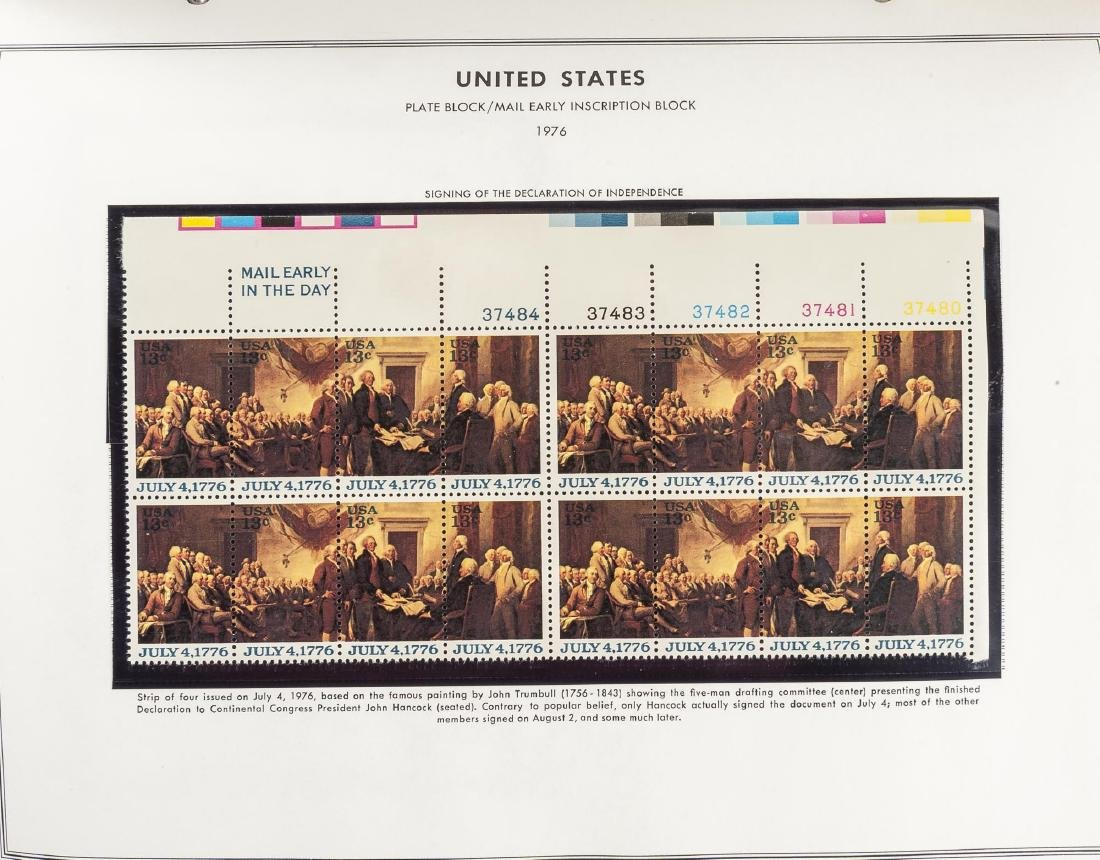 3 H.E. Harris Albums of US Mint Plate Blocks - 7