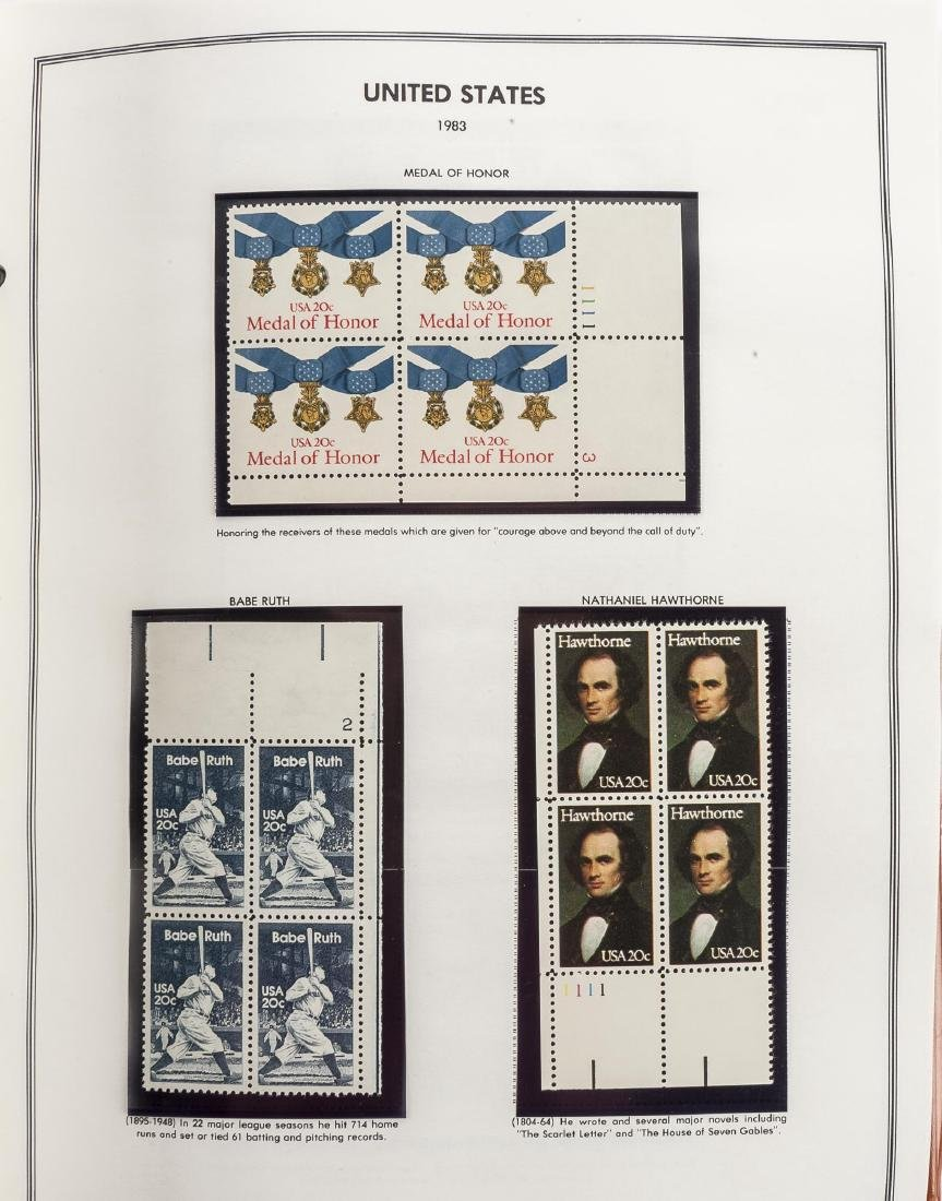 3 H.E. Harris Albums of US Mint Plate Blocks - 8