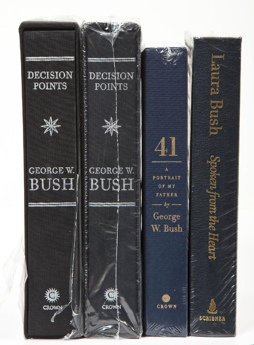 Laura & President Bush Signed Books Incl 41 - 2