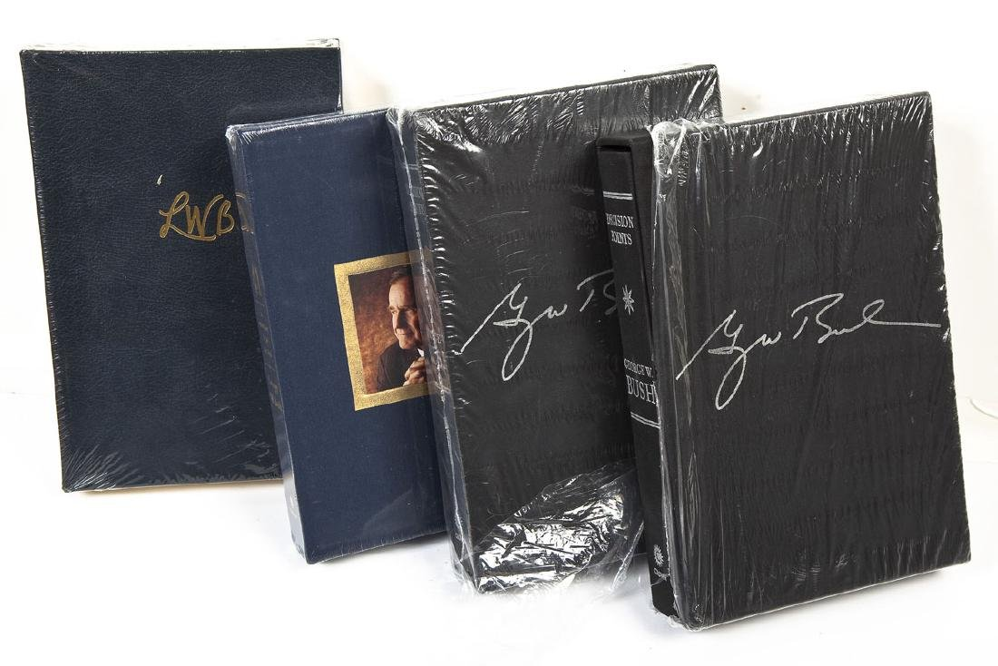 Laura & President Bush Signed Books Incl 41 - 3