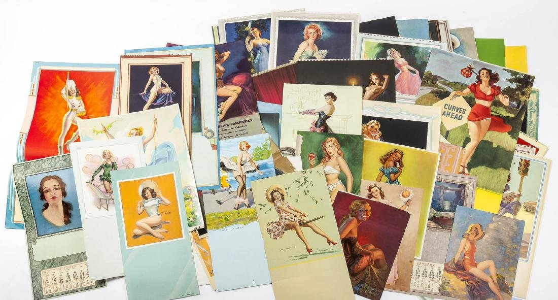 100 Vintage Pin-Up Calendar Pages