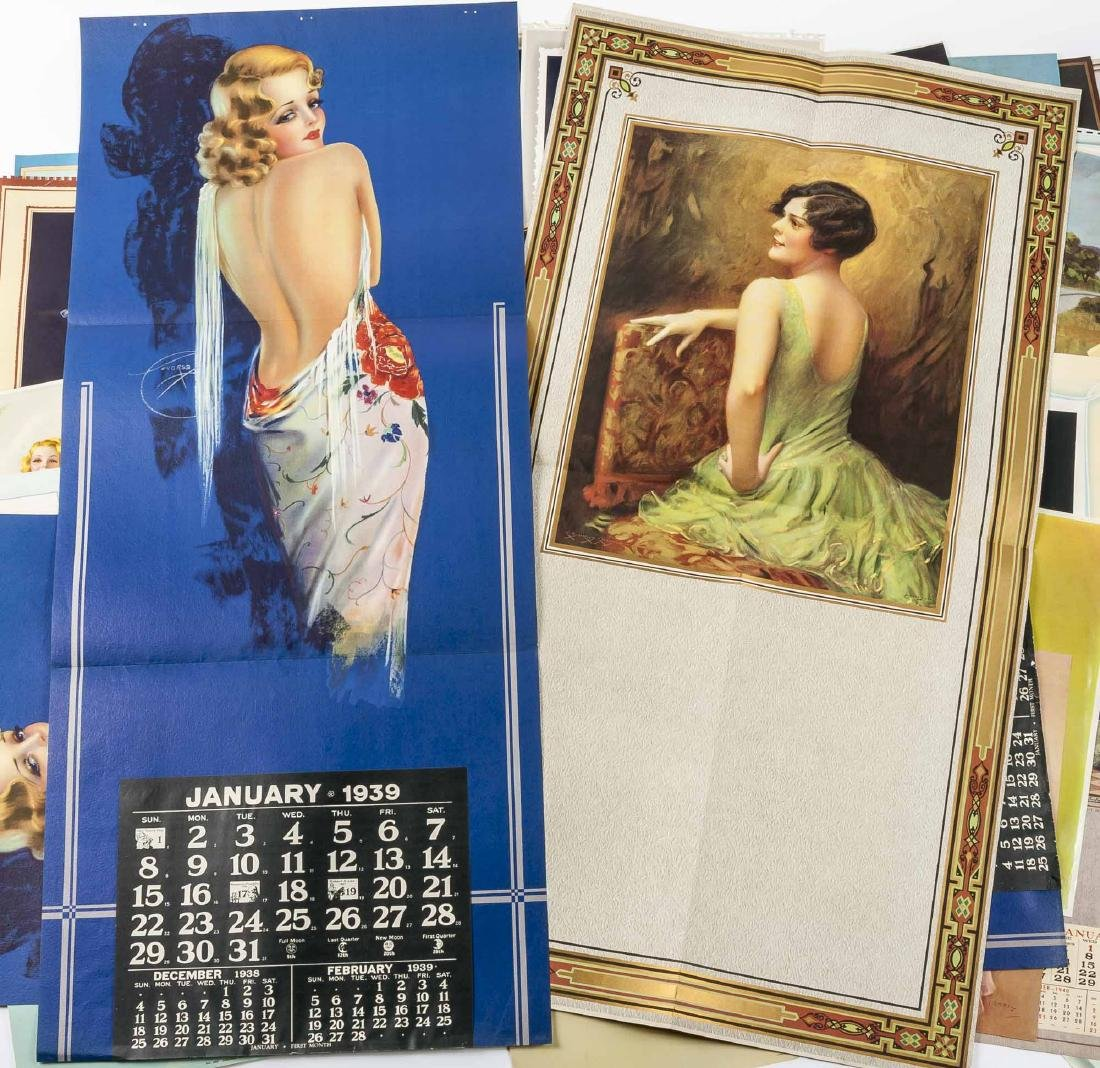 100 Vintage Pin-Up Calendar Pages - 2