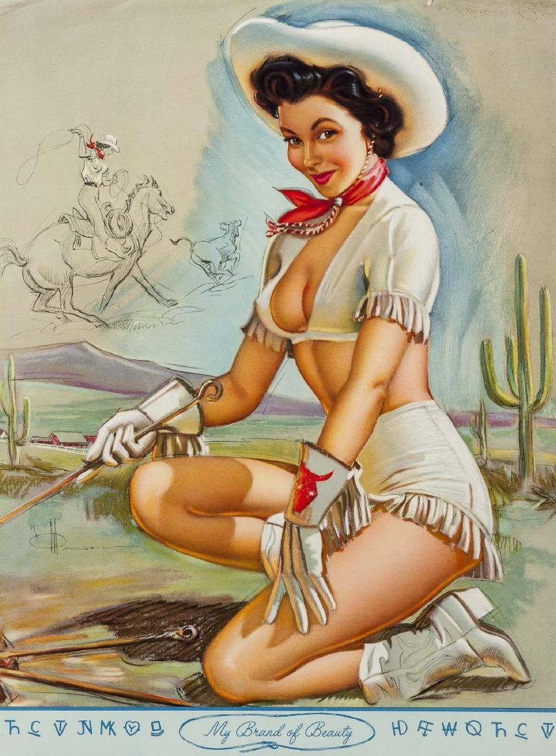 100 Vintage Pin-Up Calendar Pages - 4