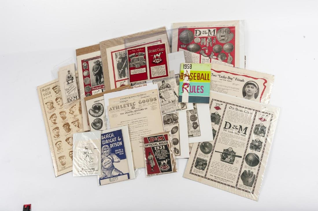 Vintage Baseball Advertisements incl D & M