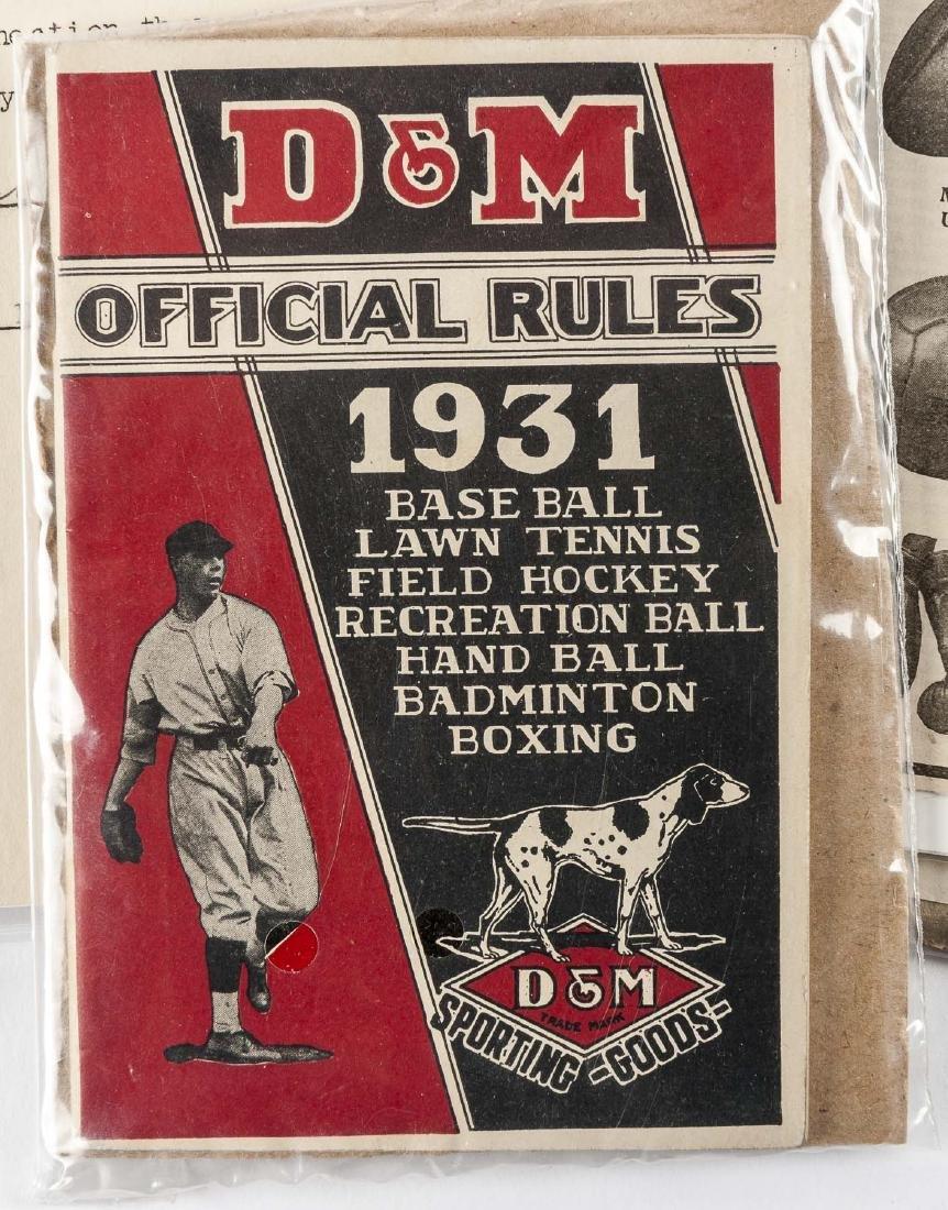 Vintage Baseball Advertisements incl D & M - 2