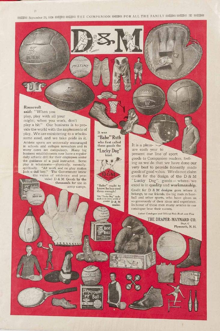 Vintage Baseball Advertisements incl D & M - 5