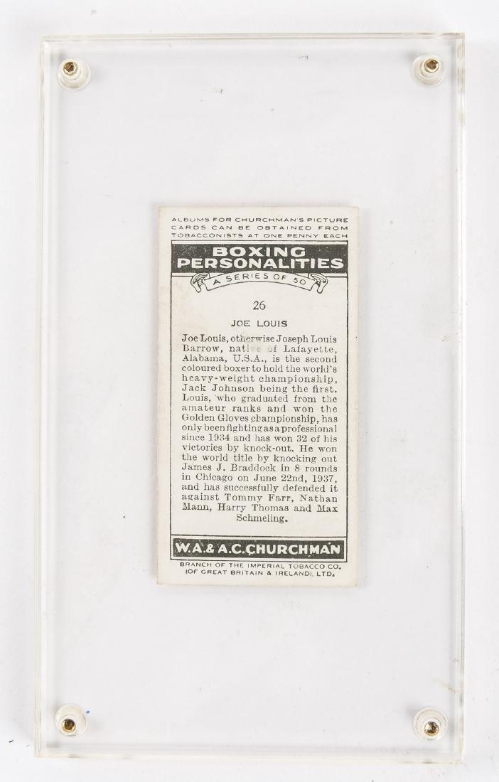 1938 Churchman's Cigarettes Joe Louis #26 - 2