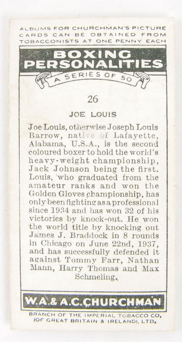 1938 Churchman's Cigarettes Joe Louis #26 - 3