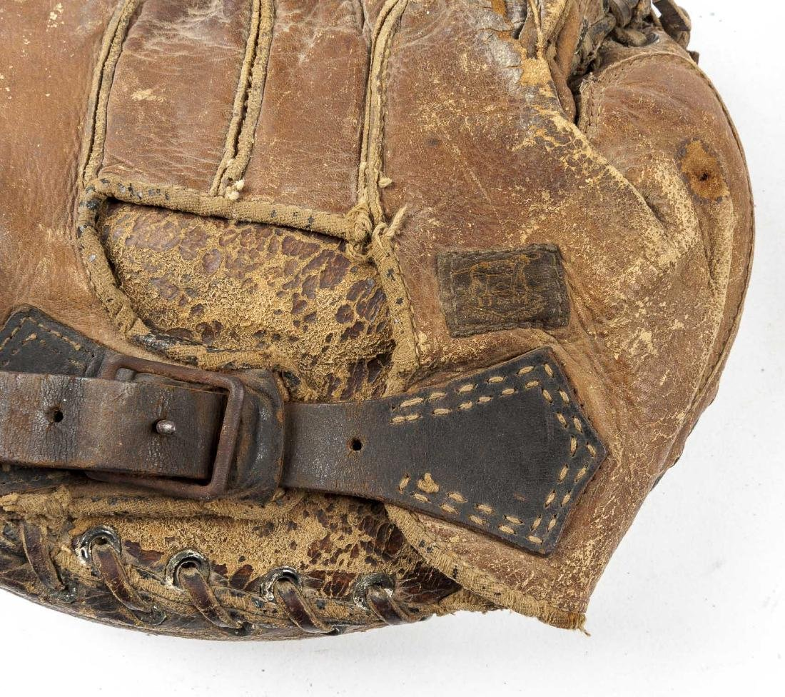 3 1920's Buckle Back Catcher's Mitts incl Reach - 3